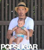 Robert Downey Jr. visited Miami with his family.