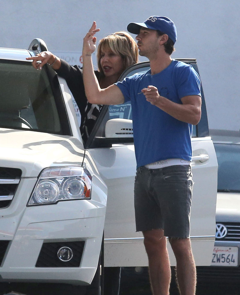 Shia LaBeouf kept it casual as he ran errands around LA.