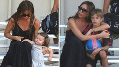 Video: Victoria Beckham Holds Harper During Family Field Day