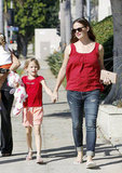 Jennifer Garner held hands with Violet Affleck in LA.