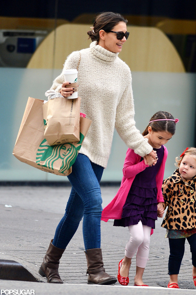 Katie Holmes and Suri Cruise Wrap Up a Big Apple Weekend
