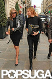 Kate Moss and Stella McCartney chatted as they shopped in Paris.