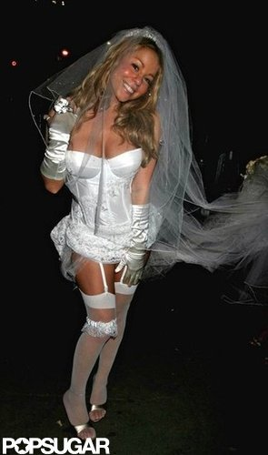 Mariah Carey left little to the imagination as a bride in 2004 in NYC.