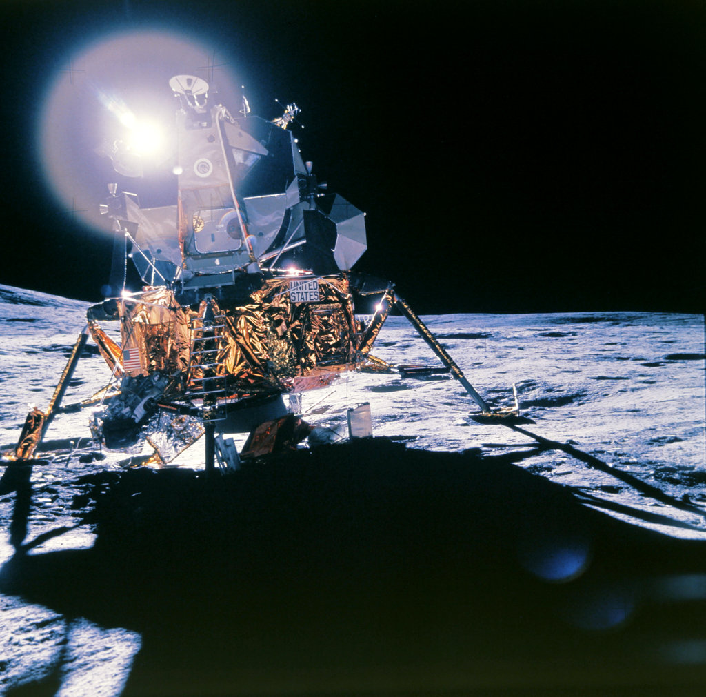 Moonscape of the Apollo Lunar Module