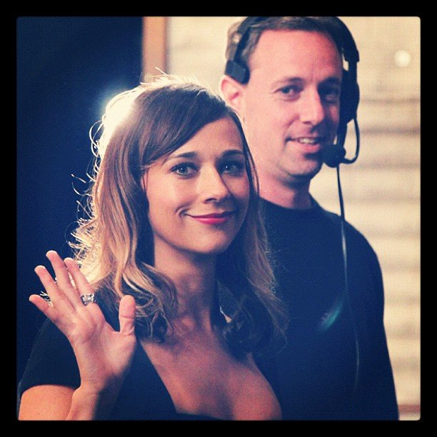 Rashida Jones smiled before her appearance on Conan. Source: Instagram user teamcoco