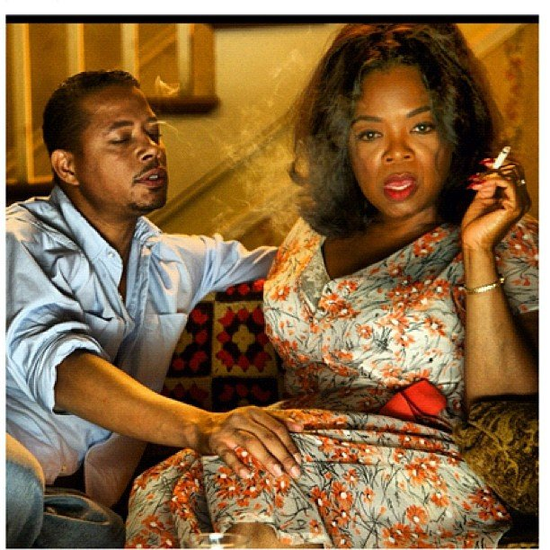 "Oprah Winfrey shared a shot of her and Terrence Howard's ""goodbye 'love scene'"" from The Butler. Source: Instagram user oprahwinfrey"
