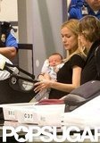 Kristin Cavallari held baby Camden Cutler in her arms.