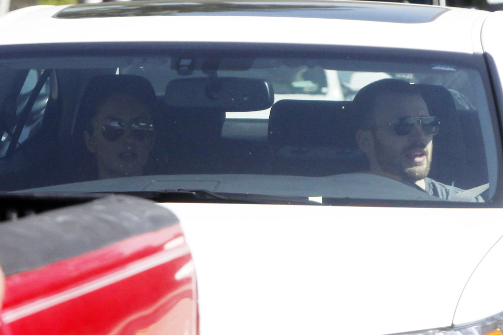 Chris Evans gave Minka Kelly a lift.