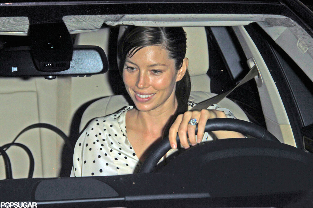 Jessica Biel headed home after a night with friends.