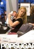 Kristin Cavallari gave baby Camden Cutler a hug.