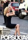 Kate Winslet struck a pose while filming a commercial in Rome during a July 2010 visit.
