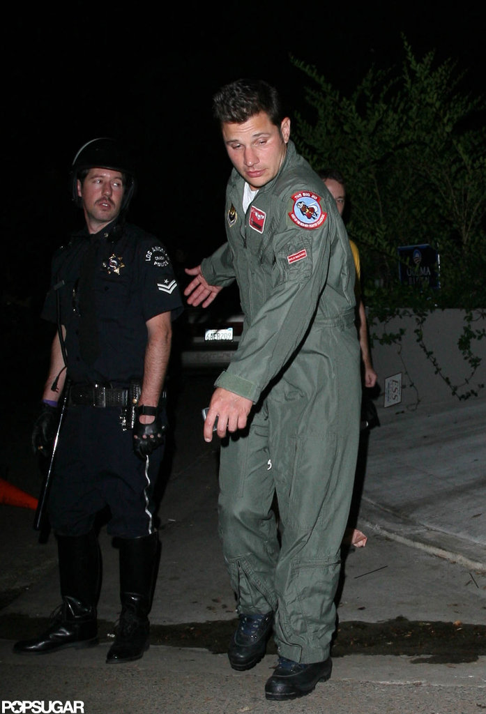 Nick Lachey partied in LA in 2008 in costume.