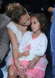 Jennifer Lopez's daughter Emme Anthony sat on her lap for the Chanel show during Paris Fashion Week.