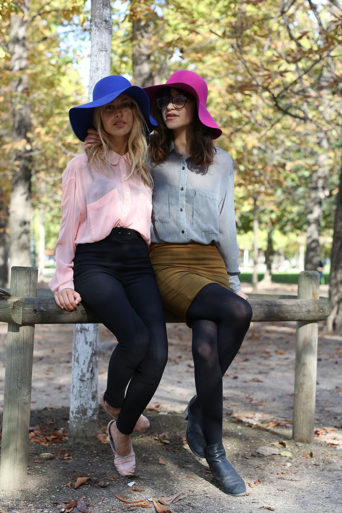 This duo kept coordinated with their colorful floppy hats.