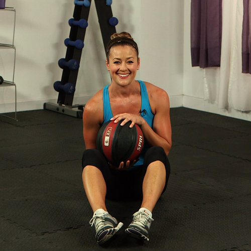 How to Do a Seated Russian Twist With a Medicine Ball