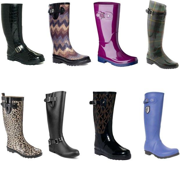Lostlands fresh rubber duck rain boots women's high rainboots velvet thermal boots
