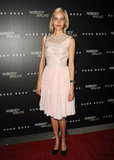 Isabel Lucas chose a romantic shade of pink for the LA premiere of Nobody Walks.