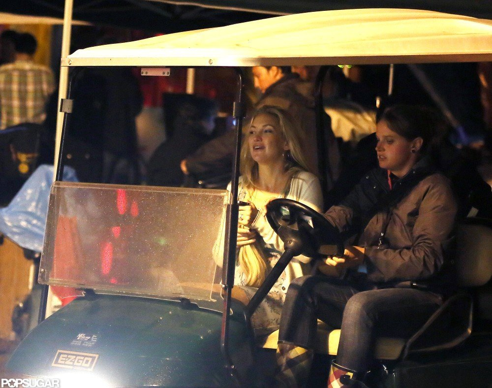 Kate Hudson headed home after a day on set.