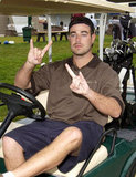 Carson Daly drove his cart around the Project ALS Spring benefit in La Jolla, CA, in May 2002.
