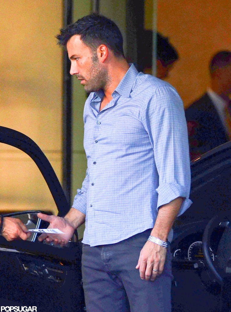 Ben Affleck headed out in LA.