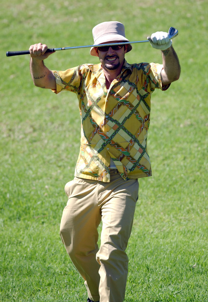 David Arquette brought his wild style to the Riviera Country Club in Pacific Palisades, CA, in October 2003.
