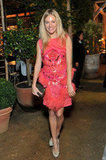 In London, Sienna Miller attended a dinner in support of breast cancer research in October 2011.