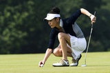 Catherine Zeta-Jones got ready to putt at Mission Hills Resort in China in October 2010.