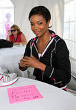 Gabrielle Union auctioned off a pair of sneakers to raise money for the cause at the June Susan G. Komen Global Race For the Cure in Washington DC.