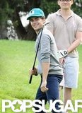 Zac Efron joined friends for a game in Sydney in April 2012.