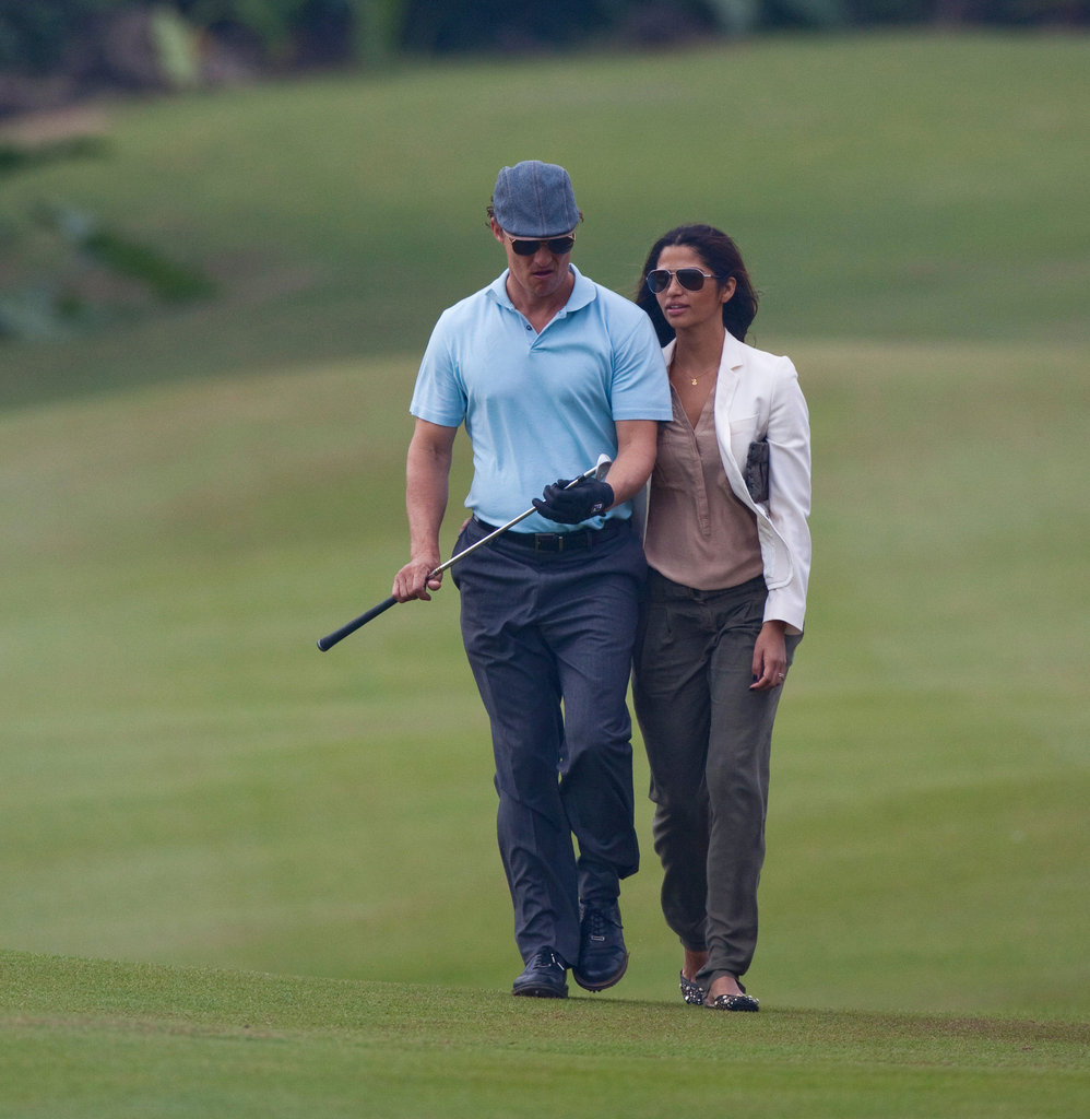 Matthew McConaughey had support from Camila Alves during an October 2010 round in China.