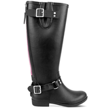 The Steve Madden Tsunami rainboot ($89) is the perfect mix of tough moto and a pop of pink (just look at that back zipper detail!).