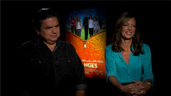 "Oliver Platt and Allison Janney Discuss Their ""Real-Life Horror Movie"" The Oranges"