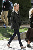 Emma Stone walked around Paris.