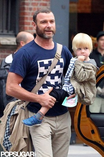 Liev Schreiber had his hands full with Kai Schreiber in NYC.