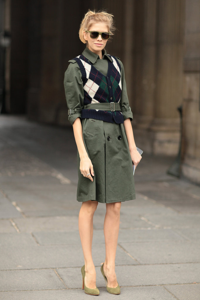 An even preppier slant on the trench, with an argyle layer.