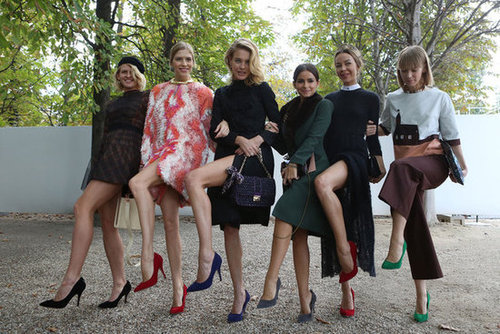 Now this is street-style, the Russian fashion royals put on quite a show.