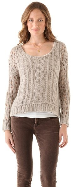 The drapey boatneck of this Free People Fluff Sweater ($108) makes it sexy without being too over the top.