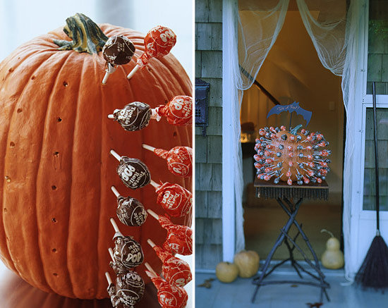 Make a Pumpkin Lollipop Holder