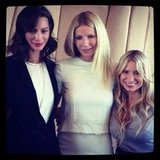 Christy Turlington and Gwyneth Paltrow linked up with Tracy Anderson at the launch event for her newest workout. Source: Instagram user cturlington