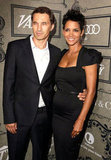 Halle Berry and Olivier Martinez posed side by side.