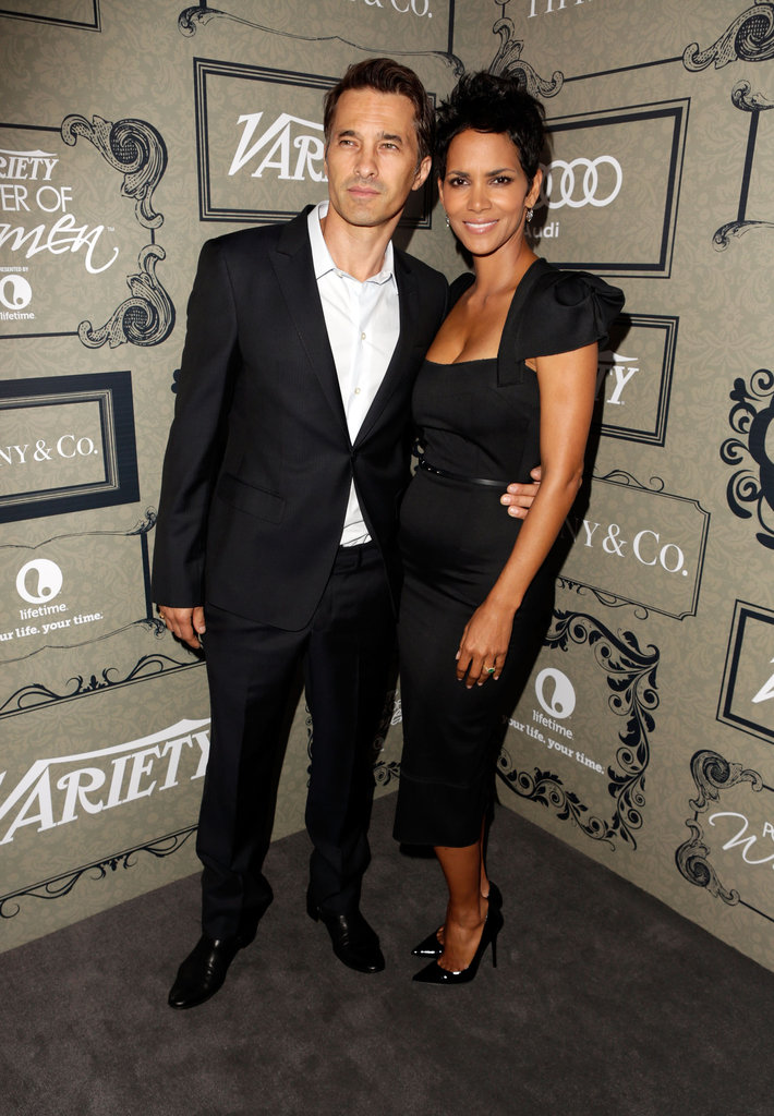 Halle Berry and Olivier Martinez stuck together.
