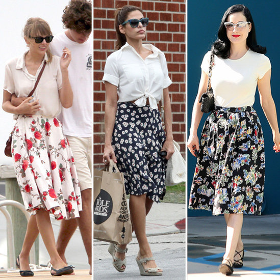Learn how to wear your floral Summer skirt for Fall.