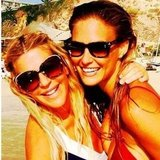 Bar Refaeli (right) soaked up some golden rays with a friend. Source: Instagram user barrefaeli