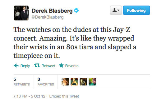 Only a fashion editor could put it so well, Derek Blasberg.