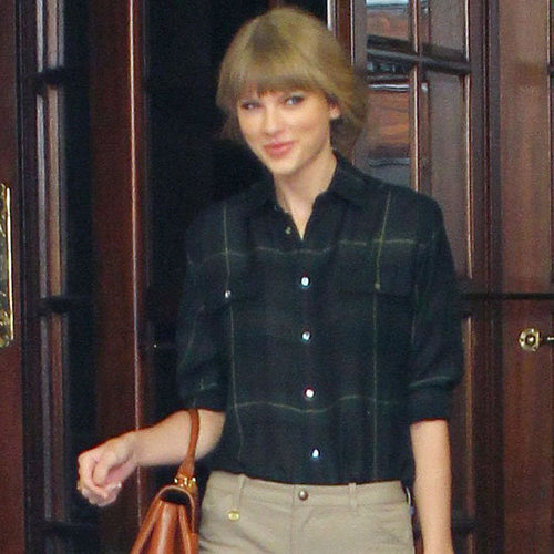 Taylor Swift Wearing Plaid Shirt