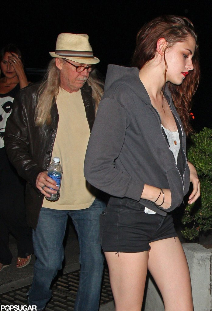 Kristen Stewart's dad John Stewart accompanied her to a Florence and the Machine show in LA.