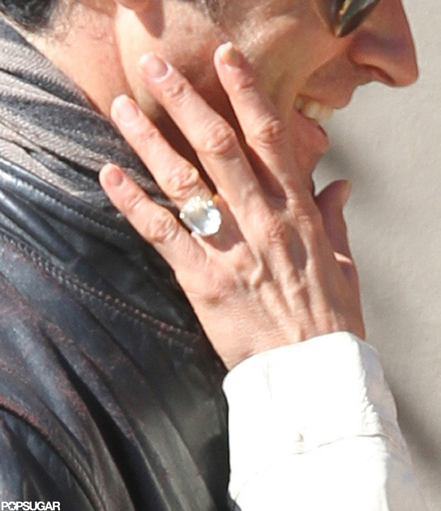 Jennifer Aniston's huge diamond engagement ring.