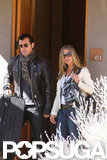 Jennifer Aniston and Justin Theroux spent the weekend in Santa Fe.
