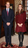 Kate Middleton and Prince William posed side by side.