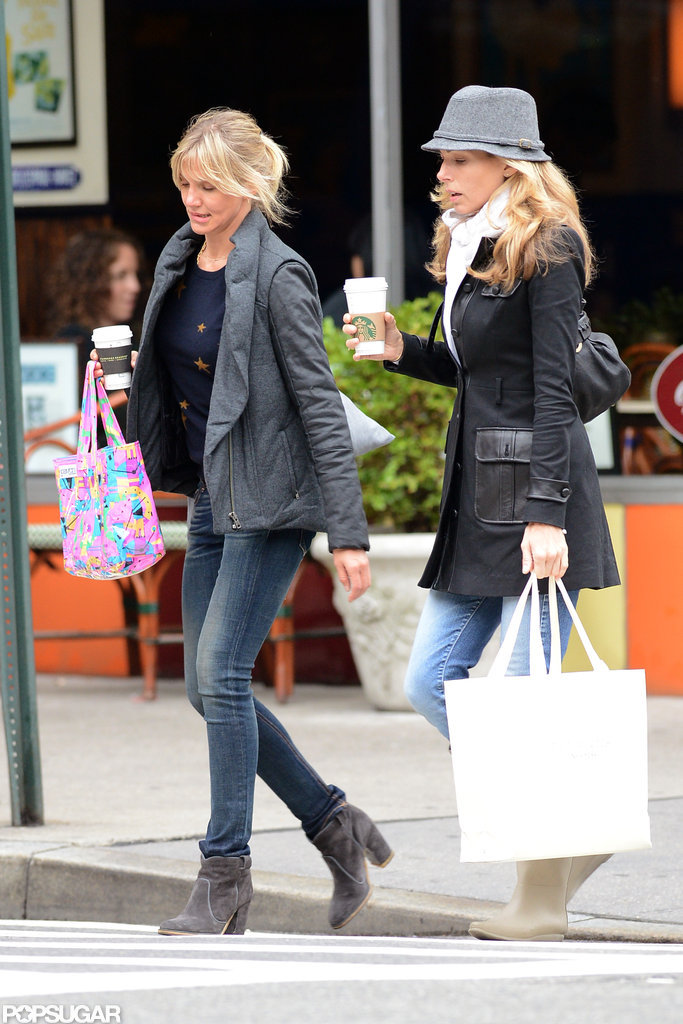 Cameron Diaz was accompanied by a friend for a shopping trip in NYC.